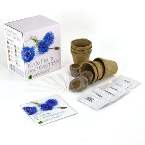 Kit de plantation de 6 fleurs comestibles