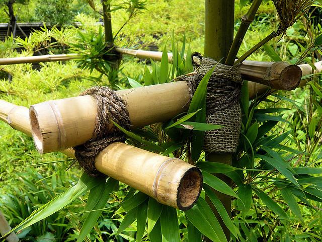 Une trame faites en bamboo