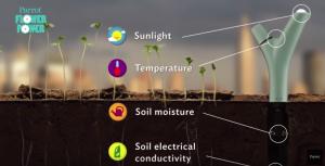 Le Parrot Flower Power capture des données sur l'environnement de vos plantes.